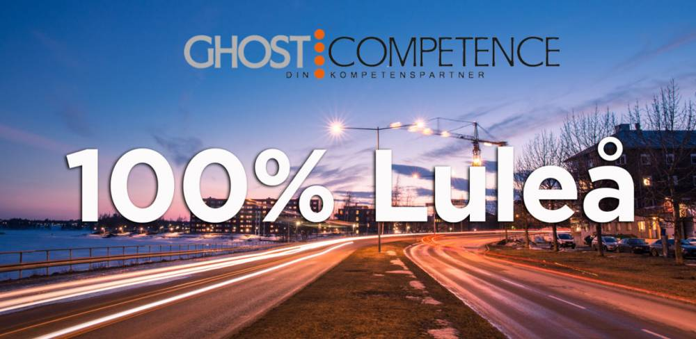 Ghost Competence 100% Luleå